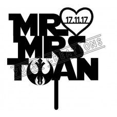 Mr & Mrs with Surname- Star Wars Theme