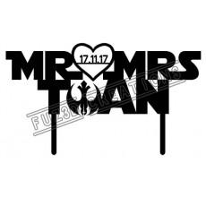 Mr & Mrs with Surname- Star Wars Theme (Landscape)