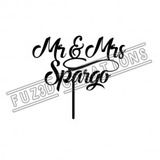 Mr & Mrs - Modern Cursive