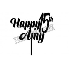 Happy Birthday - Modern Design with Age