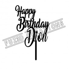 Happy Birthday - Cursive Design