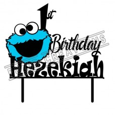 Happy Birthday - Colour Cookie Monster Theme
