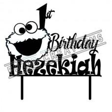 Happy Birthday - Cookie Monster Theme