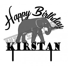 Happy Birthday - Colour Elephant Theme