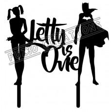 Happy Birthday - Is One - Harley Quinn - Bat Girl Theme