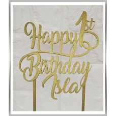 Happy Birthday - Cursive Swirl Design