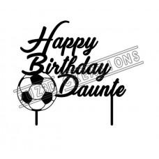Happy Birthday - Soccer Theme