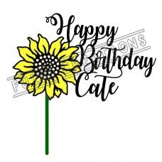 Happy Birthday - Colour Sunflower Theme