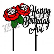 Happy Birthday - Colour Roses Theme