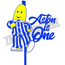 Happy Birthday - Colour Bananas in Pyjamas Theme