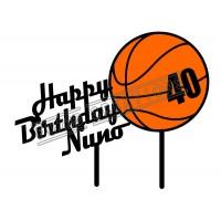 Happy Birthday - Colour Basketball Theme