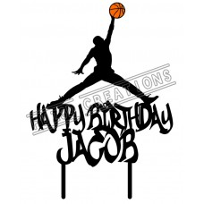 Happy Birthday - Colour Basketball Jump Man Theme