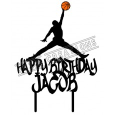 Happy Birthday - Colour Basketball Jump Man Theme