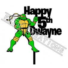 Happy Birthday - Colour Ninja Turtle Theme