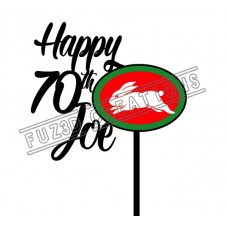 Happy Birthday - Colour NRL South Sydney Rabbitohs Theme