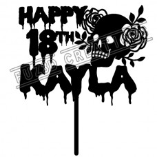 Happy Birthday Skull Theme