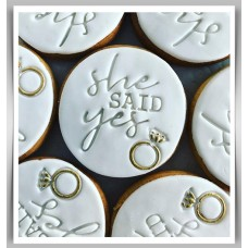 Cookie Stamp - She Said Yes