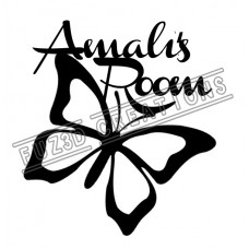 Name Plaque - Butterfly Theme